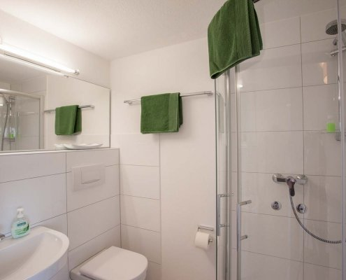 Einblick in Bad in dem Seminarhaus im Schwarzwald