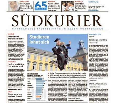 Südkurier berichtet über das Seminarhaus im Schwarzwald
